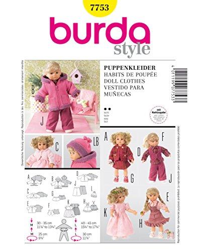 Burda Schnittmuster 7753 Puppenkleid