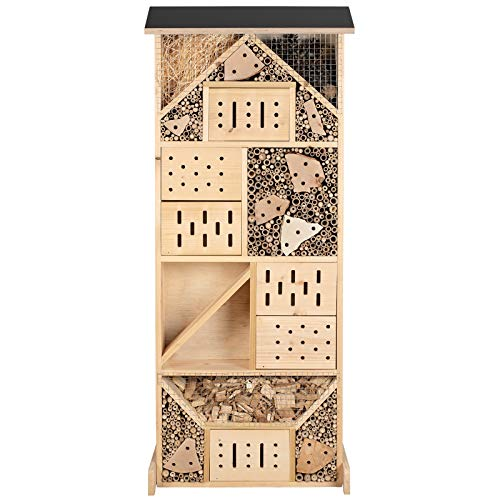 Gardigo Insektenhotel XXL Made in Germany | Insektenhaus für den Garten, 116 cm groß | Nisthaus für Wildbienen, Florfliegen, Marienkäfer und...