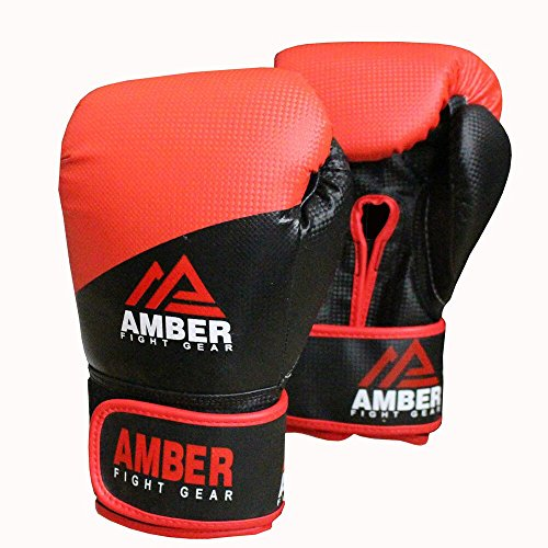 Amber Fight Gear Pro Style Training Gloves  12oz, Black