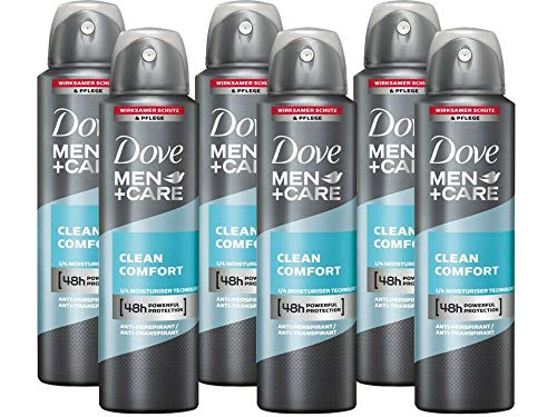Dove Men & Care Deo-Spray Deodorant Antitranspirant Bodyspray Clean Comfort 6x 150 ml