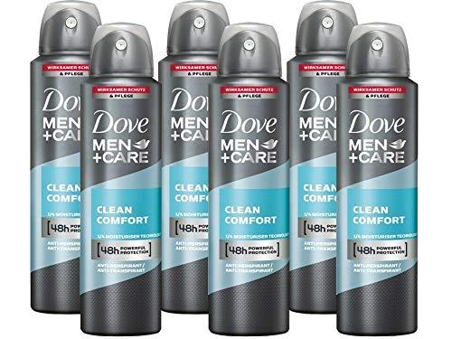 Dove Men & Care Deo-Spray Deodorant Antitranspirant Bodyspray Clean Comfort 6x 150 ml