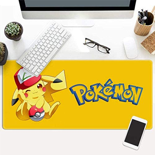 ZDVHM Grose Gaming Mouse Pad Anime Pokemon Erweiterte Tastatur Mauspad Cute Doll Pikachu Spiel Mousepad for Office Home Griffige PC Desktop Tabelle Mauspad Size 800 300 3mm