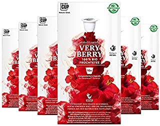 BIO Teekapseln von My-TeaCup | Kompatibel mit Nespresso-Maschinen | 100% kompostierbare Kapseln ohne Alu Früchtetee Very Berry, 60 Kapseln