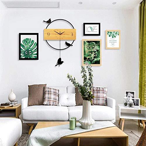 ZPQJH wandklok foto muur decoratie, Scandinavische stijl gang Aisle woonkamer creatieve slaapkamer muur fotolijst opknoping muurschildering