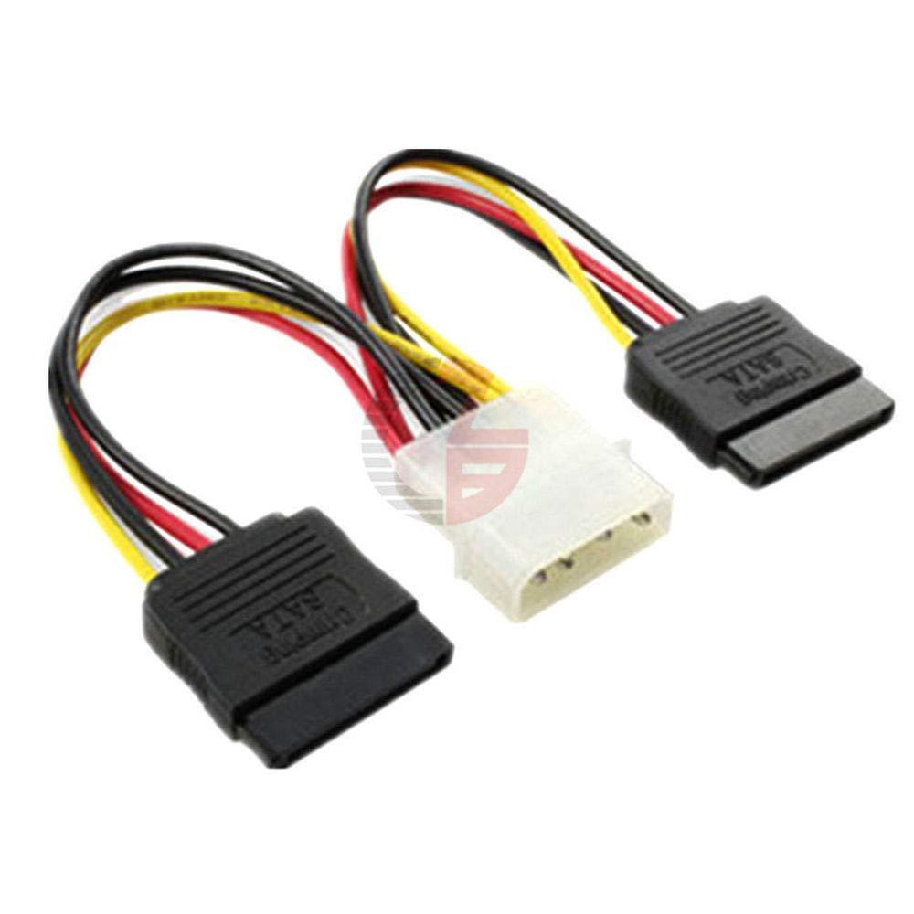 5PCS 4 Pin IDE Mail order Molex to 2 Power ATA Adapt SATA Hard Serial Mail order cheap Drive