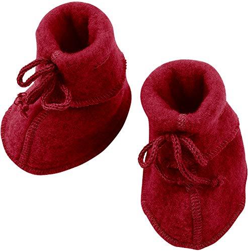 Engel Baby-Schühchen, mit Bändel, - Rot melange - 2