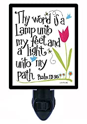 Night Light - Thy Word is a Lamp - Religious - Psalms 119