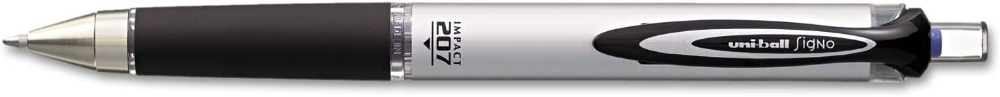 Uni-Ball 207 Impact Directly managed store Topics on TV Retractable Gel Blue Box Point Pens Bold