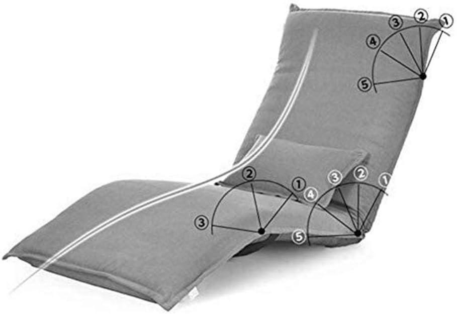 HLR Chaise de méditation Chaise pour Yoga Pliante Simple Canapé Chaise Table Dossier Lit Chaise fenêtre Flottante Chaise Lazy Chaise de Plancher (Color : Rose Red) Purple