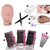 Mannequin Training Head,Eyelash Extension Practice Kit for Makeup (#1 Practice Set)