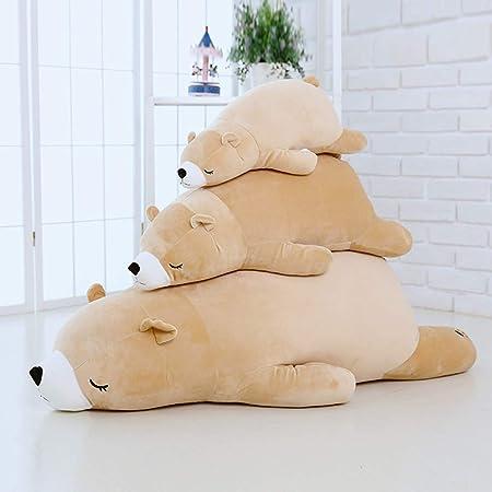 抱き枕 プレミアム ねむねむ くま とろけるような肌触り クマ 柔らかい ぬいぐるみ だきまくら クッション すやすや寝る 熊 (ブラウン,70cm)