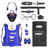 Liberty Imports Kid's Police Force Role Play Set with Mask (Multicolour)