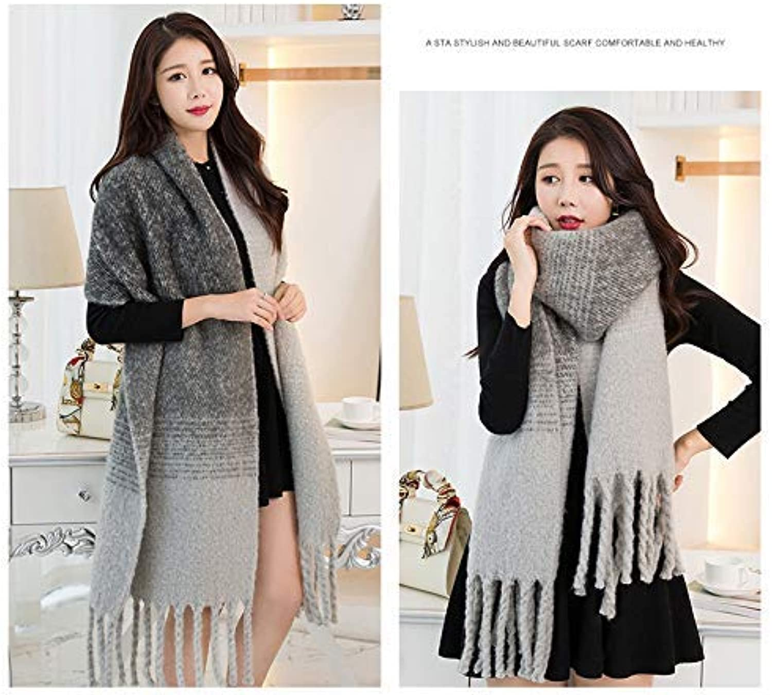 Long Scarf Thicken oversized scarf shawl autumn and winter women's dualuse wild plaid long section (Size   C) Fashion Scarf