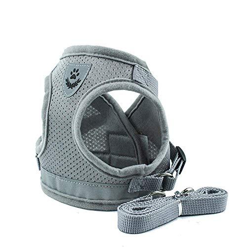 Z ZHIZU Hundegeschirr Reflektierend atmungsaktiv für große, mittelgroße, Mittlere & Kleine Hunde Geschirr Hund Katze Brustgeschirr Dog Harness (XS, Reflektierend Grau)