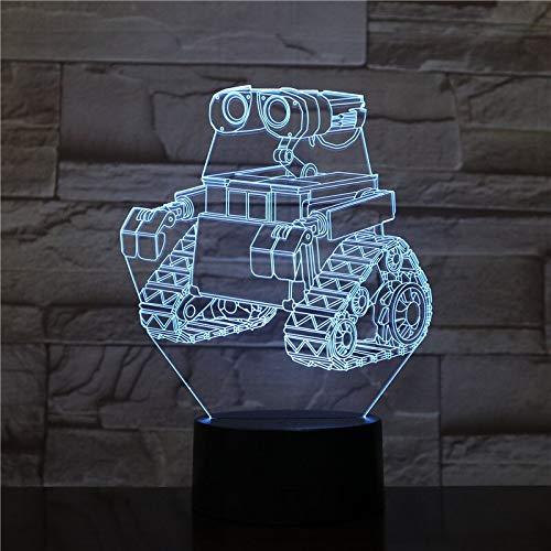 HNXDP Planetario Rover Led Night Light Decoración 3d Illusion 7 Cambio de color Niños Niños Baby Nightlight Regalos Lámpara de mesa Dormitorio