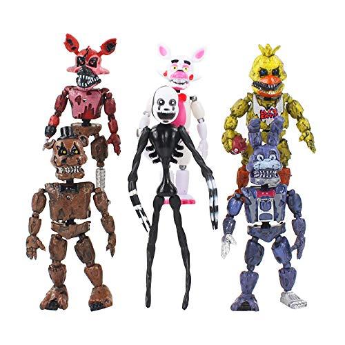 JINGMAI 6 Unids / Set En Freddy'S Five Nights PVC Figura De Acción 17Cm Bonnie Foxy Freddy Toys 5 Fazbear Bear Doll Juguetes De Bebé