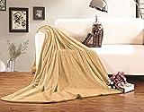Elegant Comfort Luxury Velvety Softness Fuzzy Plush Micro-Velour Ultra-Soft Blanket 100% Hypoallergenic, Twin XL, Gold-Yellow