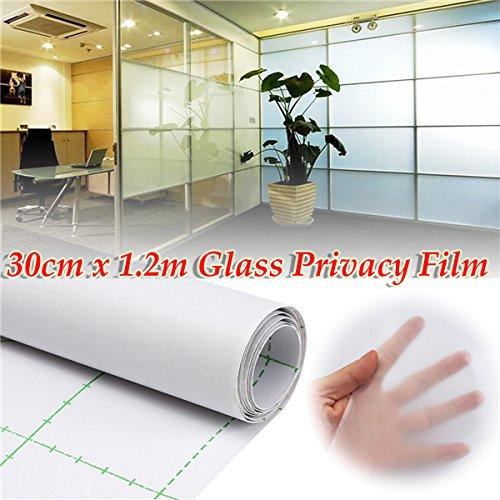 MJJEsports 30cm 1.2M Frosted Window Tint Glass Privacy PVC-folie voor doe-het-zelf/kantoor/winkel