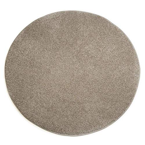 GQY Casual Home Skid tapijtvloer - vloer decoratieve deurmatten mat mat badmat ronde matten (kleur: champagne, maat: 120 * 120cm)