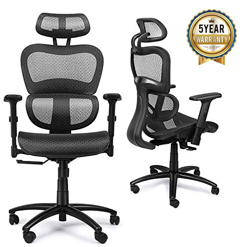 mysuntown Ergonomic Mesh Office Chair with Back Support,...