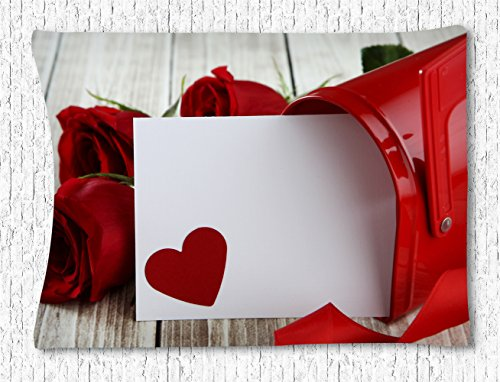 Irma00Eve Valentijnsdag Thema Wandtapijt, Liefde Brievenbus Met Mooie Rozen Tapestry Slaapkamer Woonkamer Dorm Wandopknoping Hippie Tapestry 40 X 60 Inch
