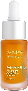 100% Natural & Organic Rejuvenating Oil Serum for Glowing Skin - Pure Argan + Jojoba, Retinol, CoQ10 for Anti-Aging Skincare, Sun Spots, Damage - Vitamin A & Rosehip Oil for Mature Skin.