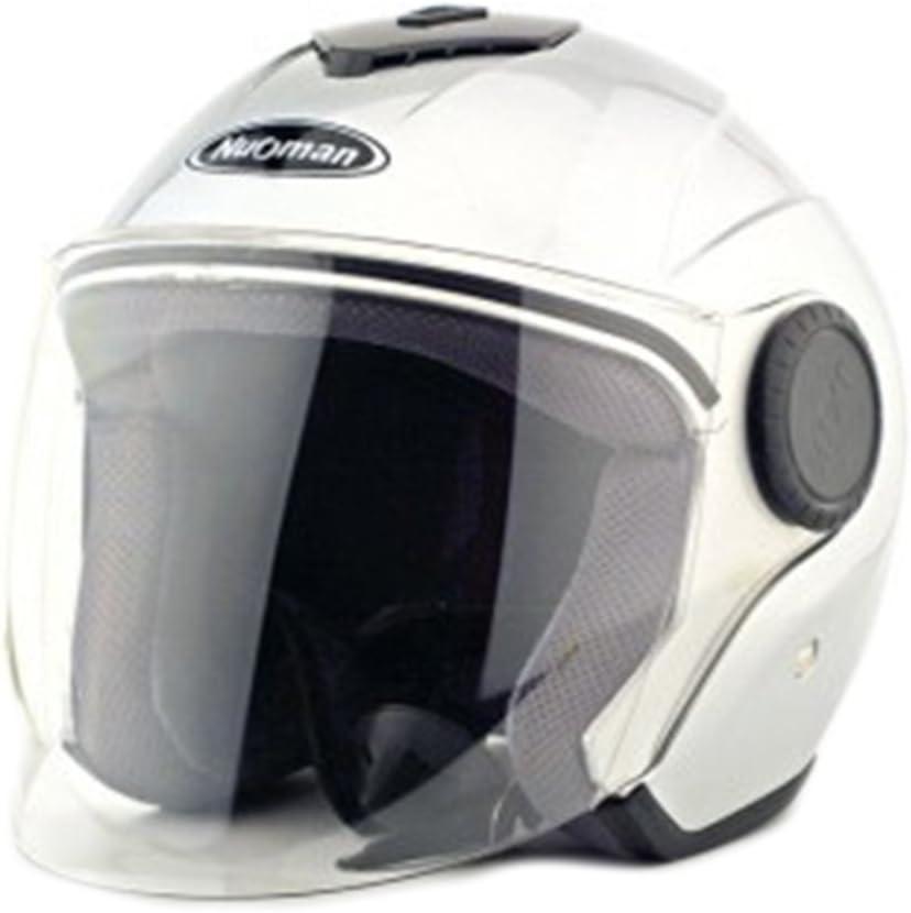 Moto Moto Scooter Moto Cyclomoteur Vélo électrique automobile Tête travail protection sécurité bedeckung Helmet Chapeau Cagoule demi-sphère Bague d'hiver 215Argent