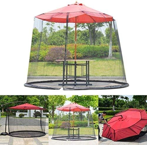 YLJYJ Sombrilla de jardín al Aire Libre Su sombrilla en una glorieta Sombrilla de Patio Mosquitera con Apertura de Cremallera y Tubo de Agua a (mosquitera)