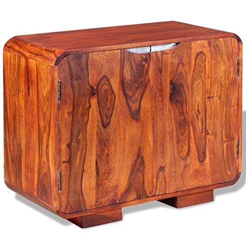 Festnight Buffet Salon Chambre Commode en Bois de Sheesham Massif Meuble de Rangement pour Chambre 75 x 35 x 60 cm