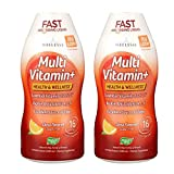 Wellesse Multivitamin Fast Absorbing, Complete B-Complex,Tangy New Citrus Flavor, 16-Fluid-Ounce...