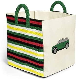 MINI Genuine Toybox Storage Toy Organiser Stripes Crochet Hanldes 80452465959