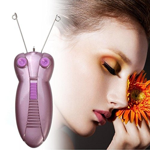 Elektrischer Haarentferner Defeatherer, Frauen Beauty Epilierer Gesichts Baumwolle Fädeln, Rasierer Lady Beauty Care Machine(EU Plug,EU Plug)