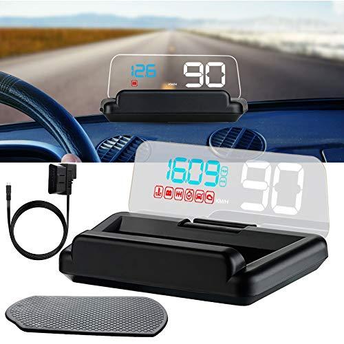 """DONGMAO 5"""" C500 HUD Head Up Display del Coche Clear Display HUD para OBD2 Coche Alarma de Velocidad de Viaje de Tiempo de Kilometraje Automático Digital Altitud"""