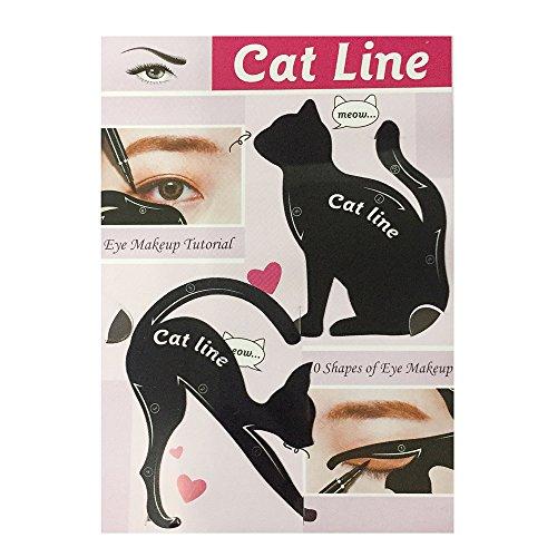 Multifunktions Katze Eyeliner Schablone Lidschatten Guide Vorlage, Augen Make-up Schablone Werkzeug...