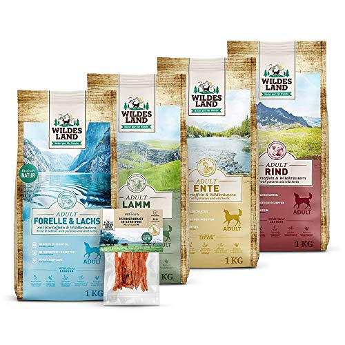 Wildes Land | Classic | Probierpaket Klein | Trockenfutter + Snack | Hundefutter