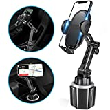 Car Cup Holder Phone Mount,SZRSTH Universal Adjustable Cup Cellphone Holder Cradle Compatiable iPhone 11 Pro/XR/Xs/XS Max/X/8/7Plus/Samsung Glaxy S20/S10