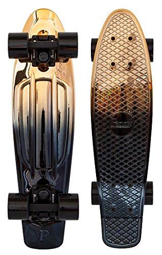 Penny Classics Complete Skateboard, Black Gold, 22' L