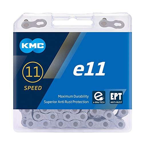 KMC e11 EPT eBike Kette, Dunkles Silber, 136 Link