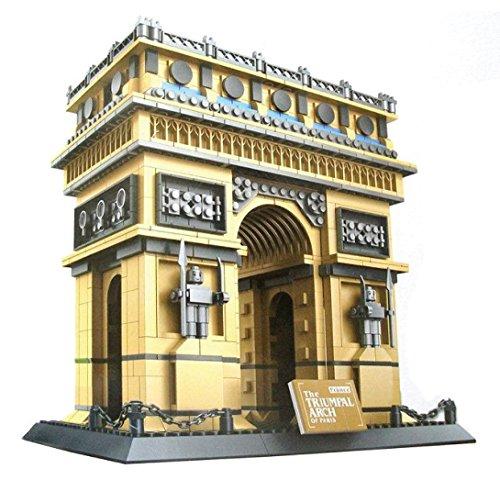 WANGE Arco del Triunfo de París. Modelo de Arquitectura para armar con bloques de construcción