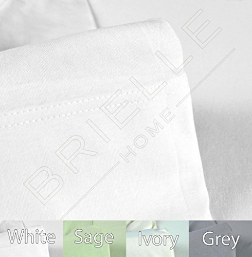 Brielle Jersey Knit (T-Shirt) Sheet Set, 100% Cotton, Twin, White