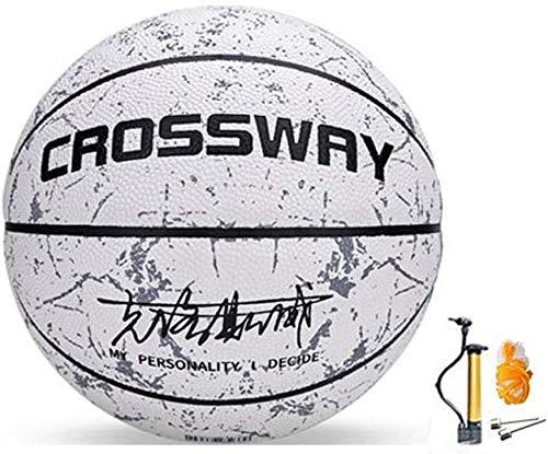 JWCN Straßenbasketball drinnen und draußen Nr. 5-6-7 Basketball mit Pumpe (Größe: Nr. 6)-NR. 6 Uptodate