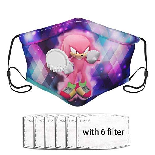 Lustiger Gesichtsschutz mit Filtern, hautfreundlicher Atemventilabdeckung, Super Knuckles Sonic The Hedgehog World