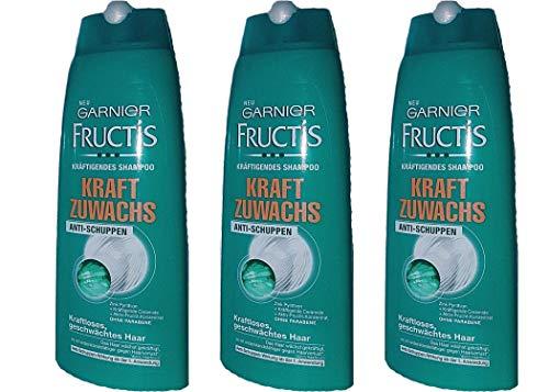 Garnier Fructis Kraft Zuwachs Shampoo, Anti-Schuppen, 250 ml (3er Pack)