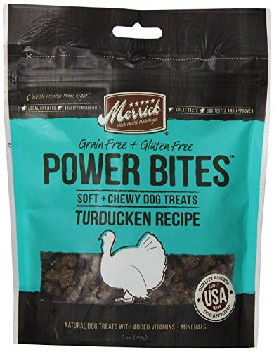 Merrick Power Bites Turducken Recipe Treats 6 Ounce, Pack of 2