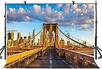 HD 10x7ftゴールデンブリッジの背景現代都市の美しいゴールデンブリッジ写真の背景写真の背景カスタマイズされたスタジオ写真撮影の背景の背景スタジオの小道具LYGE1051