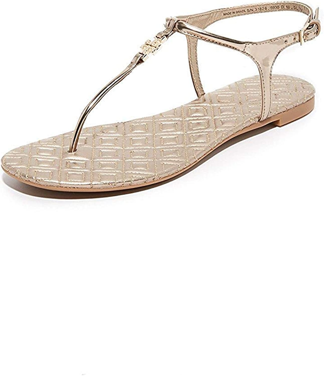 Tory Burch Marion Quilted Metallic Mica Dress Sandals