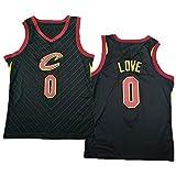 TGSCX Jersey Men's NBA Cavaliers 0# Kevin Love Baloncesto Entrenamiento Ropa Deportes y Ocio Secado rápido Vestido sin Mangas,A,M