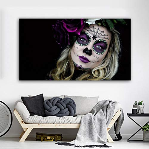 N / A Woman Portrait Poster Popular Abstract Canvas Painting Wall Art Picture For Living Room Bedroom Modern Home Decoration Frameless 50x90cm