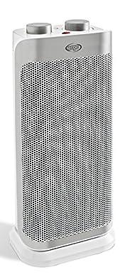 Foto di Argo Boogie Plus Termoventilatore Ceramico a Torre, 2 Modalità di Riscaldamento Eco e Comfort, 1000 - 2000 W, Bianco/Argento