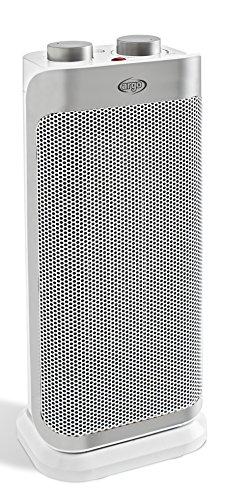 Argo Boogie Plus Termoventilatore Ceramico a Torre, 2 Modalità di Riscaldamento Eco e Comfort, 1000 - 2000 W, Bianco/Argento